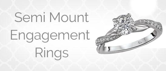 Semi Mount Engagement Rings