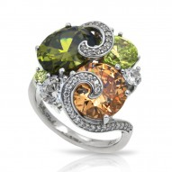 Andromeda Collection In Sterling Silver Cz.Fall Ring