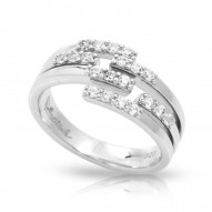 Fontaine Collection In Sterling Silver Cz.White Ring