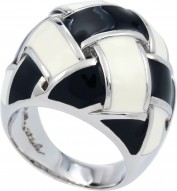 Cestina Black/White Ring