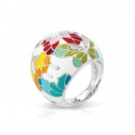Butterfly Kisses White Ring