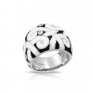 Denouement Black/White Ring