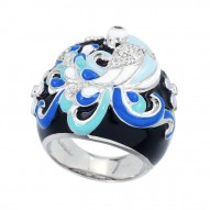 Peacock Ice Blue Ring