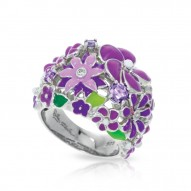 Jardin Collection In Sterling Silver Purple/En/ White/Cz Ring
