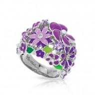 Jardin Collection In Sterling Silver Purple/En/ White/Cz Ring