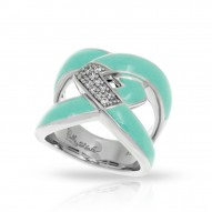 Amazon Collection In Sterling Silver Aqua/En/White /Cz Ring