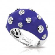 Glitter Collection In Sterling Silver En_Irisblue/Cz_White Ring