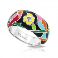 Songbird Collection In Sterling Silver En_Blkmult/Cz_White Ring