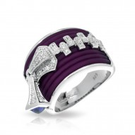 Roxie Collection In Sterling Silver Plum/Ru/White /Cz Ring