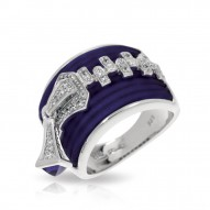 Roxie Collection In Sterling Silver Blue/Ru/White /Cz Ring
