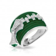 Roxie Collection In Sterling Silver Emerald/Ru/White /Cz Ring