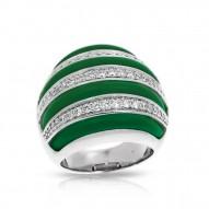 Intermezzo Collection In Sterling Silver Emerald/Ru/White /Cz Ring