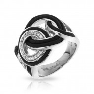 Unity Collection In Sterling Silver Blk/Ru/White /Cz Ring