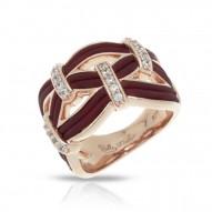 Riviera Collection In Brnrosegold_Sterling Silver Brn/Ru/White /Cz Ring