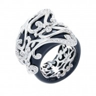 Anastacia Black Ring