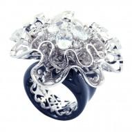 Corsage Black Ring