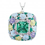 Enchanted Garden Emerald Pendant