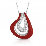 Vapeur Collection In Sterling Silver Reden/Cz.White Pendant