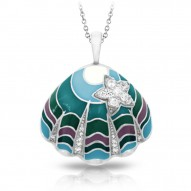Jewel Of The Sea Collection In Sterling Silver Oceanblueen Pendant