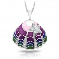 Jewel Of The Sea Collection In Sterling Silver _Deeppurpleen Pendant