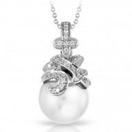 Fiona Collection In Sterling Silver Wht/Pearl/Wht/Cz Pendant