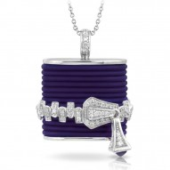 Roxie Collection In Sterling Silver Blue/Ru/White /Cz Pendant