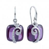 Vigne Amethyst Earrings