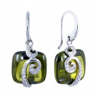 Vigne Olive Earrings