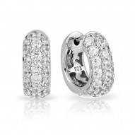 Pav_ Collection In Square Sterling Silver White/Cz Earring