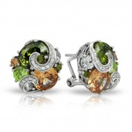 Andromeda Collection In Sterling Silver Cz.Fall Earring
