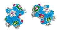 Lucky Frog Turquoise Earrings