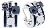 Orbit Black Earrings