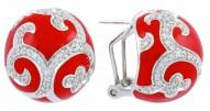 Royale Ball Red Earrings