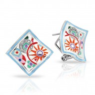 Pashmina Collection In Sterling Silver Ena.Mult/Cz.White Earring