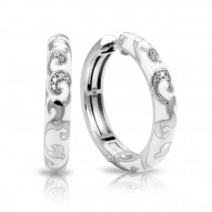 Royale Collection In Hoops Sterling Silver Ena.White /Cz.White Earring