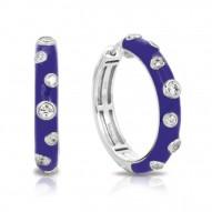 Glitter Collection In Sterling Silver En_Irisblue/Cz_White Earring