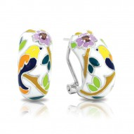 Songbird Collection In Sterling Silver En_White Mult/Cz_White Earring