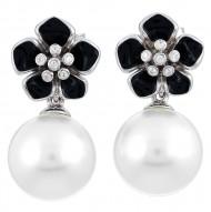 Snowdrop Black Earrings