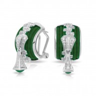 Roxie Collection In Sterling Silver Emerald/Ru/White /Cz Earring