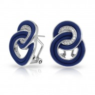 Unity Collection In Sterling Silver Blue/Ru/White /Cz Earring