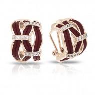 Riviera Collection In Brnrosegold_Sterling Silver Brn/Ru/White /Cz Earring