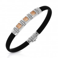 Celine Collection In Sterling Silver Blk/Ru/Champ/Cz Bracelet