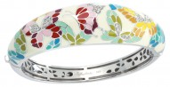Butterfly Kisses White Bangle