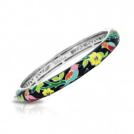 Songbird Collection In Sterling Silver En_Blkmult/Cz_White Bangle