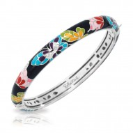 Butterfly Kisses Collection In Stack/Blk/Ena/Cz/Ss Bangle