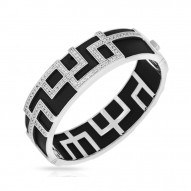 Piazza Collection In Sterling Silver Blkrub/Cz.White Bangle