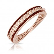 Liaison Collection In Sterling Silver Ru.Brn/Rosegold/Cz.White Bangle