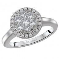 Radiance Halo Diamond Ring