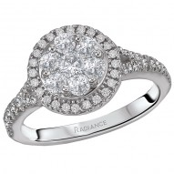 Halo Cluster Diamond Ring