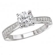 Semi-Mount Trellis Diamond Engagement Ring